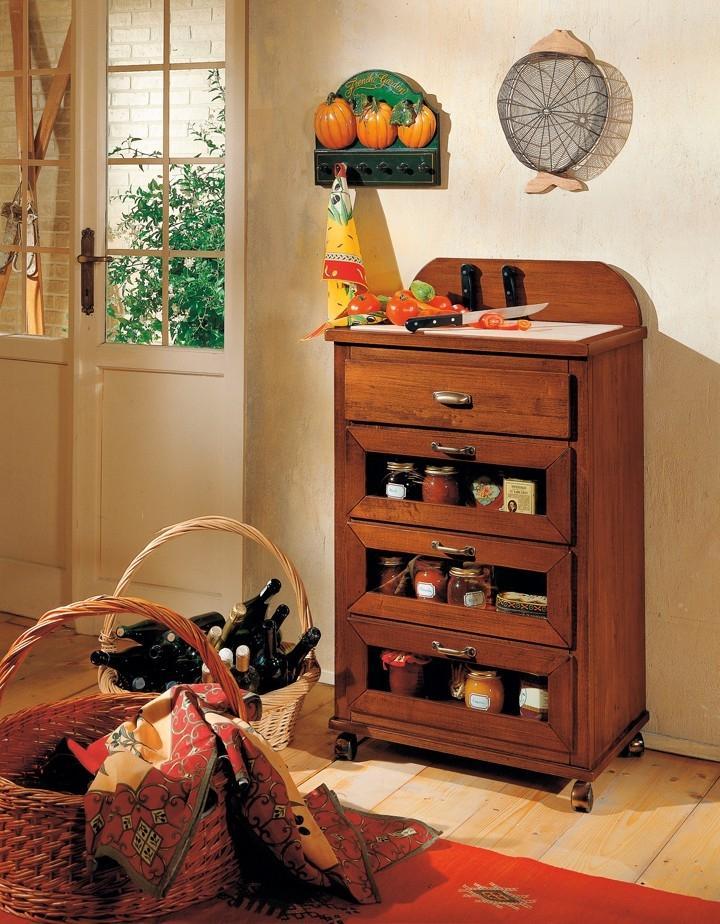 Mobile tagliere valdera vintage - Carrelli per cucine ...